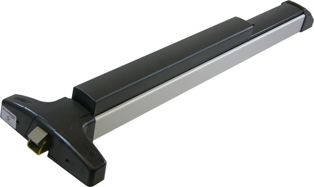 Exit Device Series V40 Satin Aluminum Rim Exit Device
