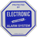 DECAL 4X4IN ALARM SYS