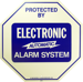SIGN 11.25X11.25IN ALARM SYSTEM