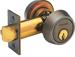 Gatelatch 2-3/4in Double Cylinder 6 Pin C Keyway, Satin Chrome 626