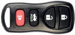 REMOTE SHELL NISSAN 4 BUTTON U,L,P,T