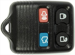 REMOTE SHELL FORD 4 BUTTON U,L,P,T