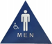 MEN SIGN TRIANGLE BLUE