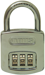 RESETTABLE COMBO PADLOCK 3 DIAL 1-1/2IN