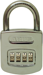 RESETTABLE COMBO PADLOCK 4 DIAL CARDED