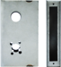 WELDABLE GATE BOX SCH L MORTISE LOCK