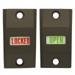 Exit Indicator & Sign, 1-3/4in Door, Open/Locked, Dark Bronze Anodized (121)