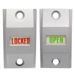 Exit Indicator & Sign, 1-3/4in Door, Open/Locked, Aluminum Clear Anodized (130)